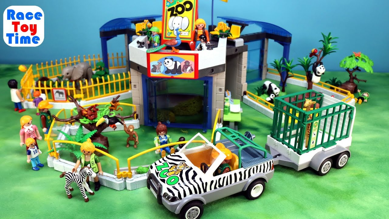 Playmobil City Life Toy Safari Animals Zoo Building Set