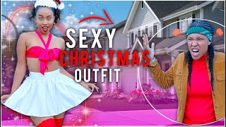 Wearing A *SEXY* Christmas Outfit To Her Grandparents House! (ENDED BAD)