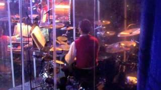 Steve Hawryluk playing drums in the Ringling Bros and Barnum & Bailey Circus
