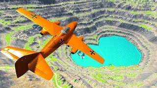 Beamng Drive - Airplane Crashes & Destruction #4