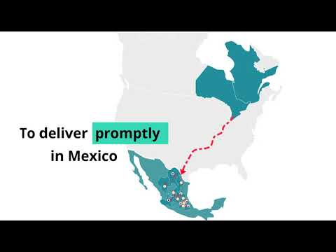 LTL freight shipping  from Quebec and Ontario to  Mexico