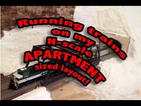 Apartment sized N scale Model Railroad