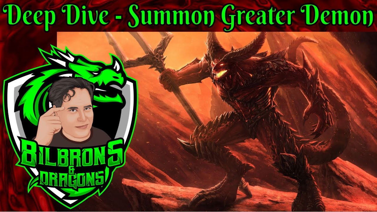 Summon Greater Demon D D 5e Powergamer Stactics Room Deep Dive Series Youtube Tier 1 or 2) into existence. summon greater demon d d 5e powergamer stactics room deep dive series