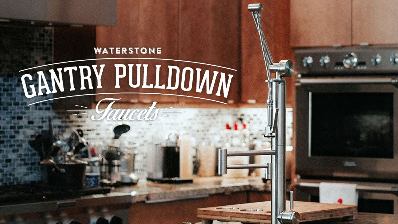 Waterstone Contemporary Gantry Pulldown Faucet - YouTube
