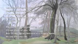 Charlotte Mew: I so liked Spring