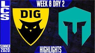 DIG vs IMT Highlights | LCS Summer 2020 W8D2 | Dignitas vs Immortals