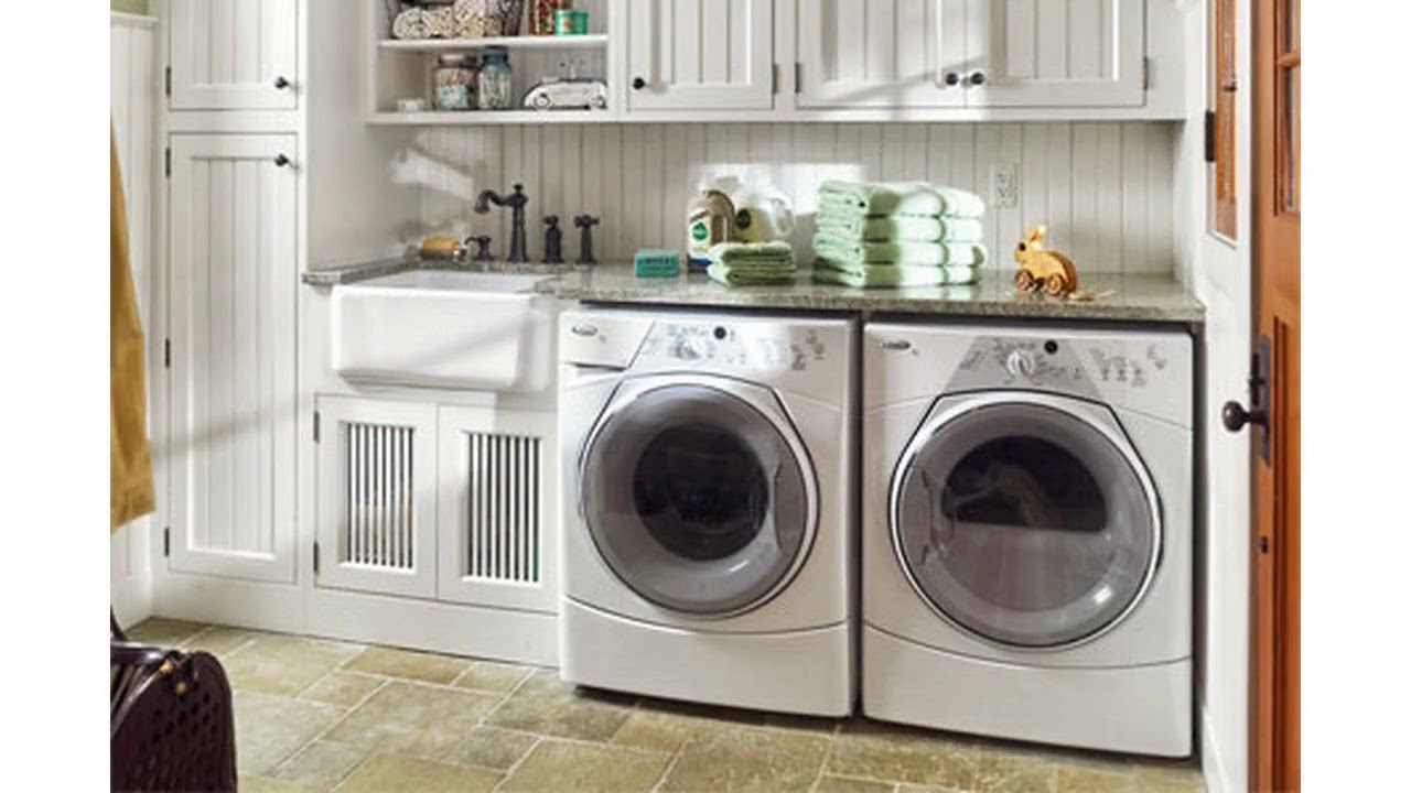 Garage laundry room ideas - YouTube