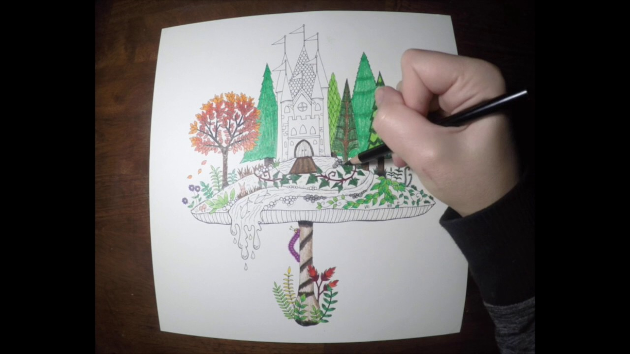 Mushroom Castle In Enchanted Forest Coloring Book Video