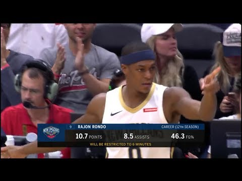 Rajon Rondo is BACK! (highlights of first game in Pelicans)