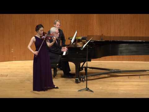 Evin Blomberg -- Robert Schumann's Violin Sonata No. 1 in A minor, Op. 105