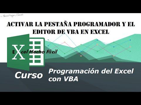 Activar la pestaña Programador y el Editor de VBA en Excel