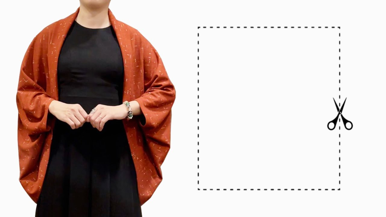 ⭐️Very easy Rectangle cape cutting and stitching | Step by step sewing tutorial for beginners