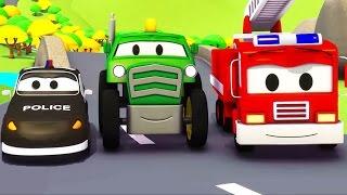 Video Mobil patroli: Truk Pemadam Kebakaran dan Mobil Polisi dan Traktor di Kota Mobil | Kartun Mobil download MP3, 3GP, MP4, WEBM, AVI, FLV Juli 2018