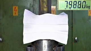 How Strong is Paper? 1500 Sheets of Paper Vs. 150 Ton Hydraulic Press