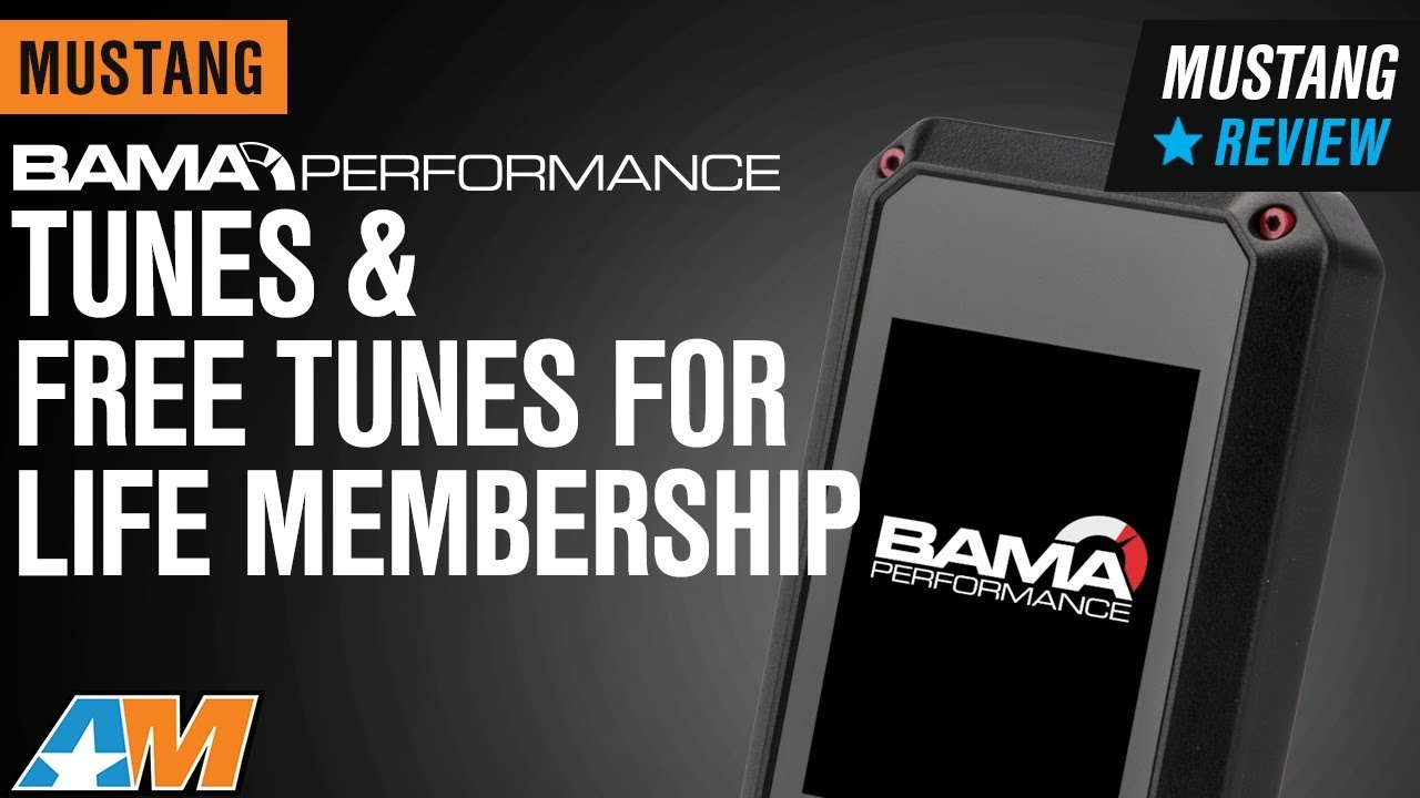 Bama Mustang Tunes and Free Tunes for Life Membership 38050