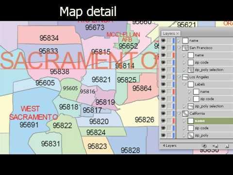 Zip Code Map Sacramento Ca.California Vector Maps Youtube