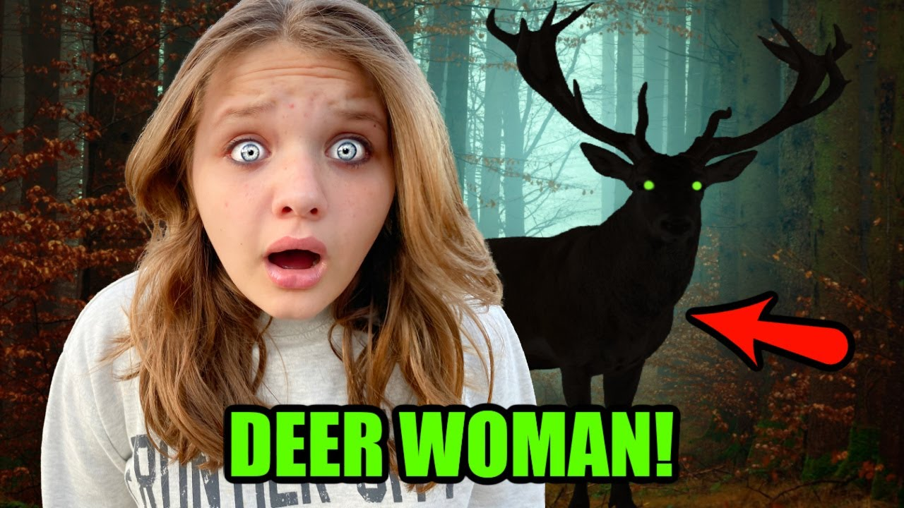 We SAW a DEER LADY in the WOODS?! The LEGEND of the DEER WOMAN 😵