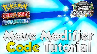 """ORAS Powersaves - """"MOVE MODIFIER"""" Code! (Omega Ruby Alpha Sapphire/X&Y Tutorial Guide)"""