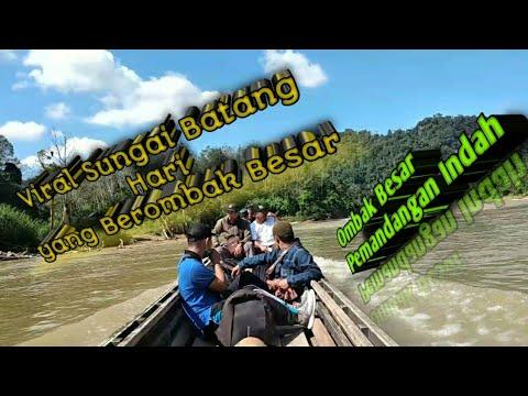 Viral Sungai Batang Hari Berombak Tinggi - YouTube