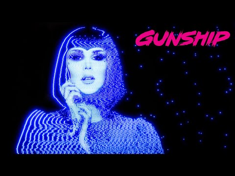 Смотреть клип Gunship Feat. Kat Von D - Black Blood Red Kiss