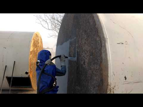 Heavy Duty Painting oil tank resotration part 1