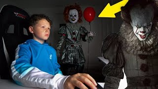 """IT"" CREEPY CLOWN PRANK ON LITTLE BROTHER!"