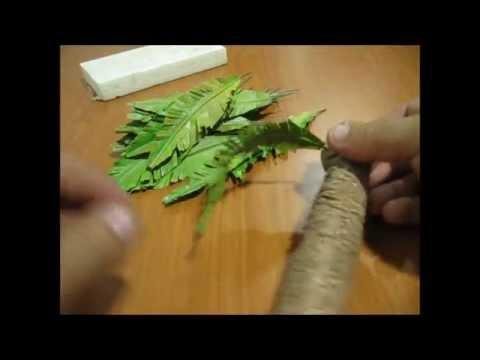 Como hacer una palmera parte 2 how to make a palm tree - Como hacer una palmera artificial ...