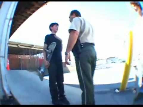 Crazy Police Brutality on 13 yr old Skater!!!