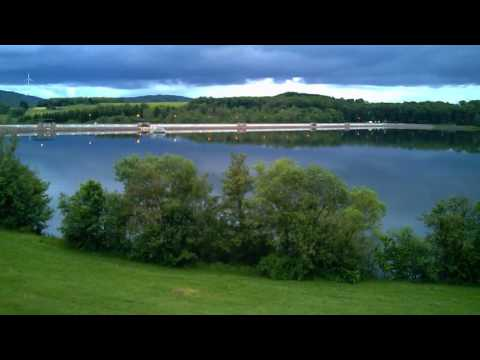 Fun with V686 wltoys drone view from Bostalsee, Germany
