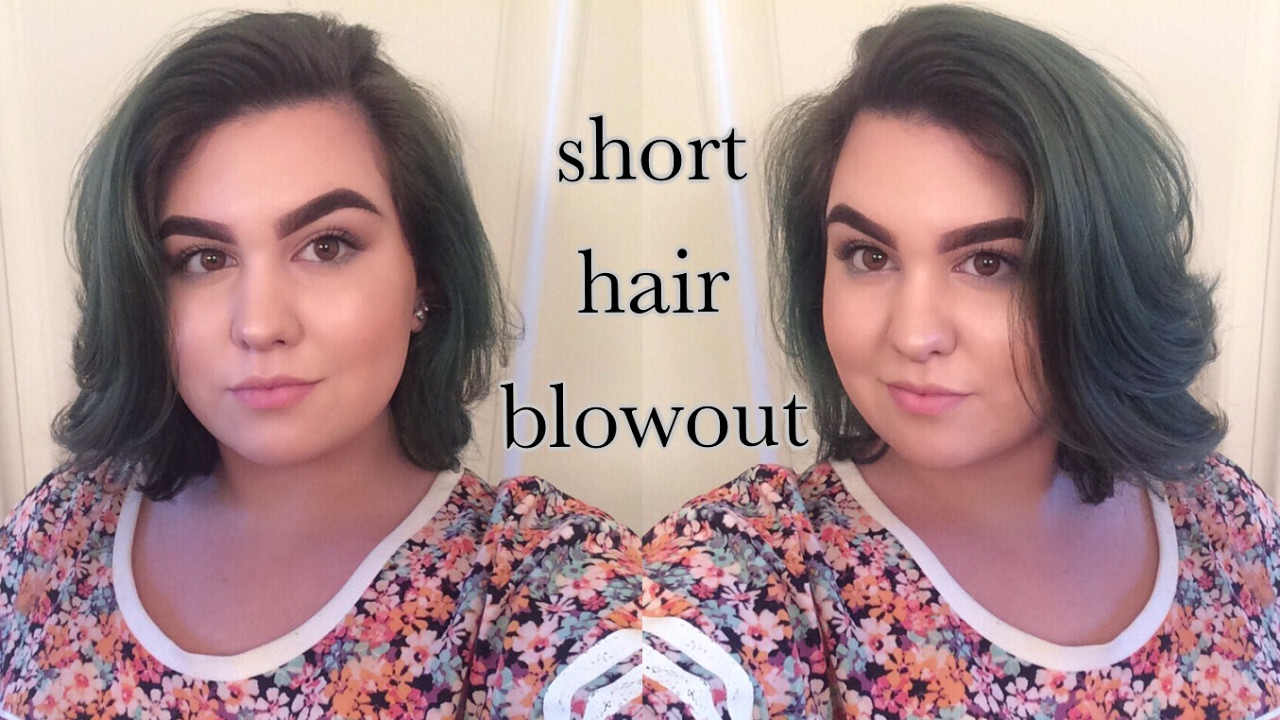 How To Blowout For Short Hair Youtube