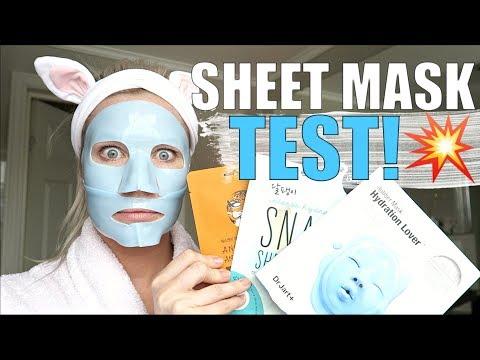 SHEET MASK TEST! Billig og dyr..