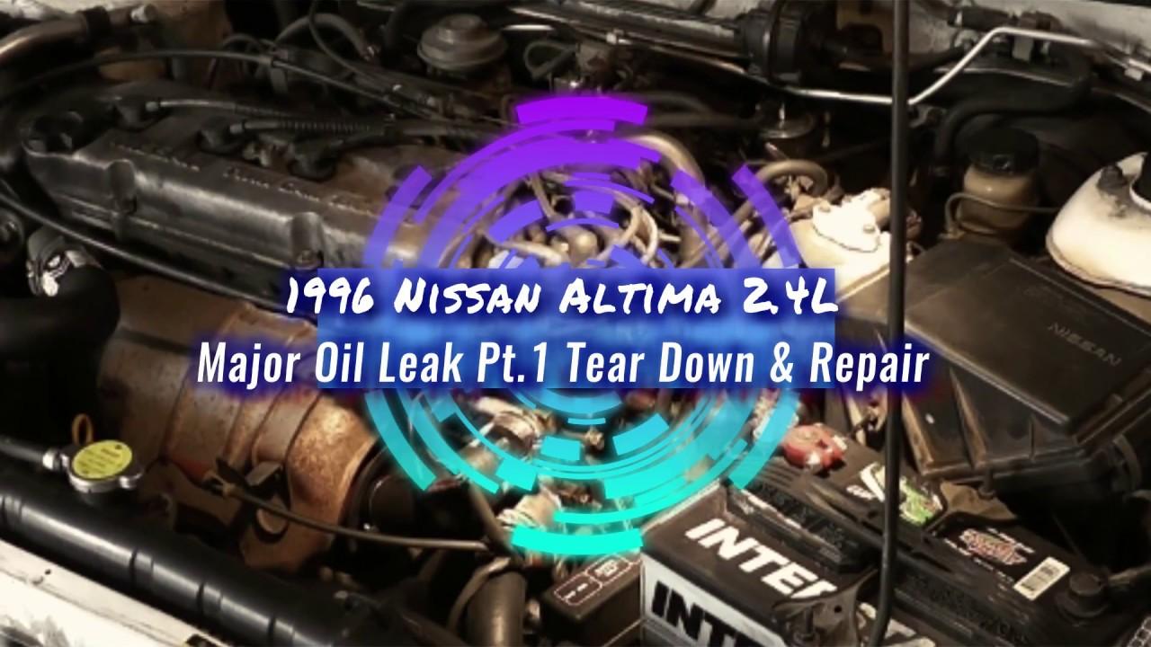 hight resolution of 1996 nissan altima 2 4l major oil leak distributor shaft pt1 inspection tear down