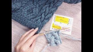 Как вязать широкую косу из трех прядей спицами, видеоурок / Александра Краснобаева