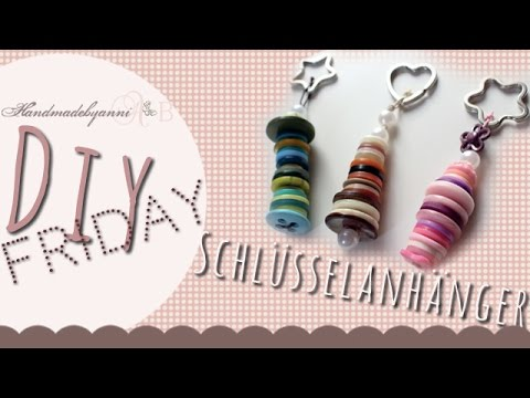 tutorial schl sselanh nger aus kn pfen diy friday handmadebyanni youtube. Black Bedroom Furniture Sets. Home Design Ideas