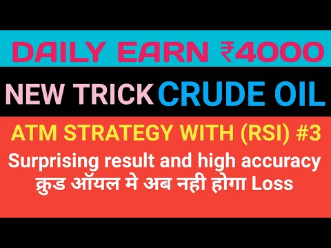 New Crude Oil Intraday ATM Strategies | Crude Oil Trading Strategies In Hindi