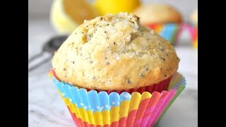 Homemade Lemon Poppy Seed Muffins Easy-to-make Recipe - Cooking With Manuela