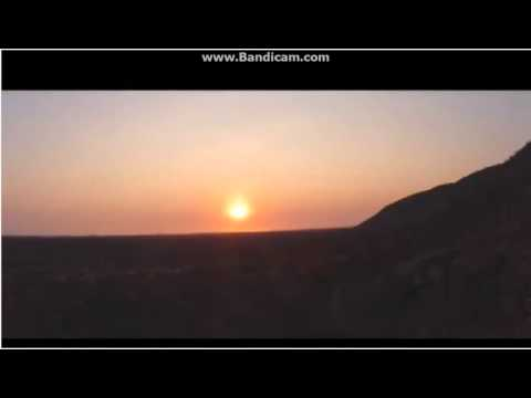 Flat earth - African sun
