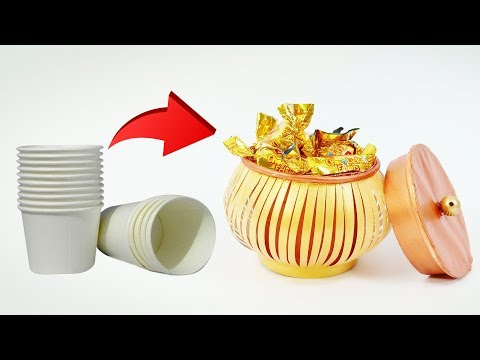 Amazing Paper Cup Craft Idea | Recycle paper Cups | Crafts Junction