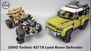LEGO Technic 42110 Land Rover Defender unboxing, speed build and detailed review