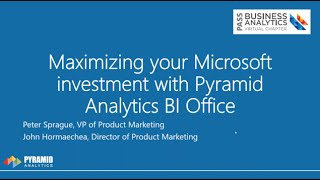 Maximizing your Microsoft investment with Pyramid Analytics BI Office