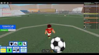 soccer in roblox high school part 1| man u v ronaldo