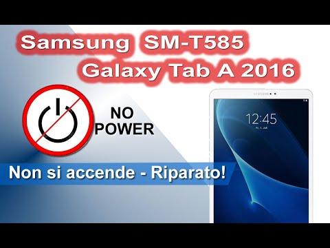 Samsung SM-T585 Galaxy Tab A 2016 non si accende. Riparazione semplice. No power Easy Fix