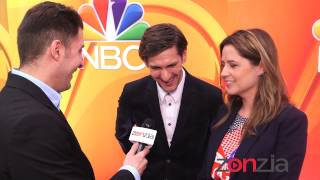 Jenna Fischer & Mathew Baynton at the NBC Upfront with BTVRtv's Arthur Kade