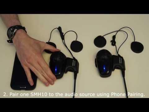 Music Sharing on Two Sena SMH10 Headsets