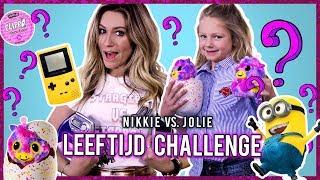 NIKKIE PLESSEN & DOCHTER  JOLIE  -  LEEFTIJD CHALLENGE