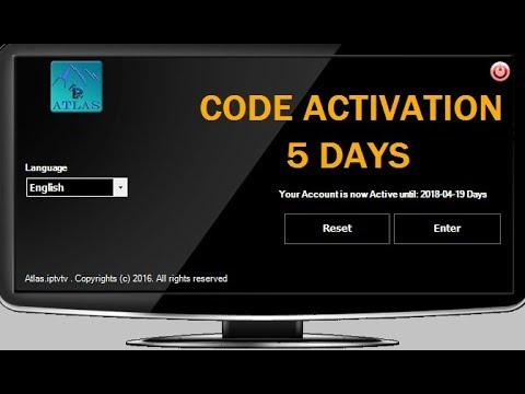 atlas iptv v3 activation code 2018