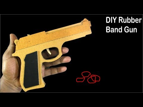 How To Make A Rubber Band Gun Out Of Cardboard