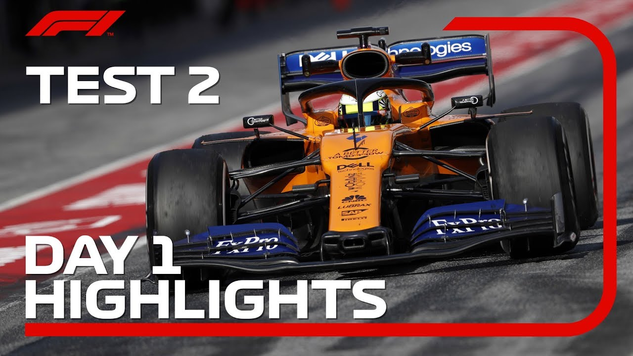 Download Test 2, Day 1 Highlights   F1 Testing 2019