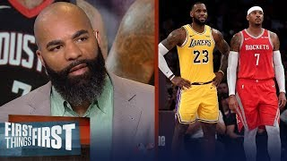 Carlos Boozer reacts to reports LeBron wants Carmelo to join the Lakers | NBA | FIRST THINGS FIRST