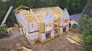 Крыша каркасного дома в Америке (Дом миллионера #10)